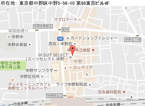 中野キャバクラ派遣ラメールマップ