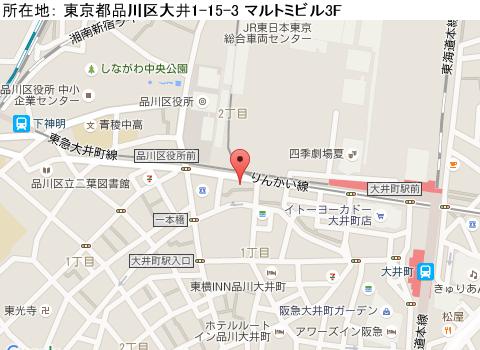 大井町キャバクラ派遣ラカンマップ