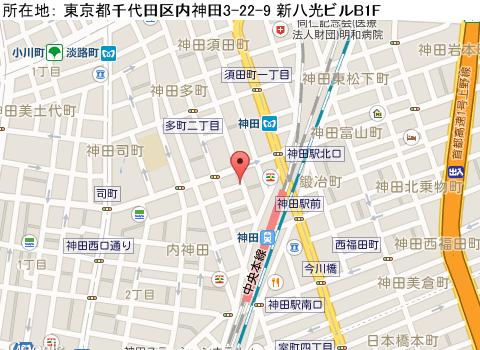 神田キャバクラ派遣クラブニューグランディアマップ