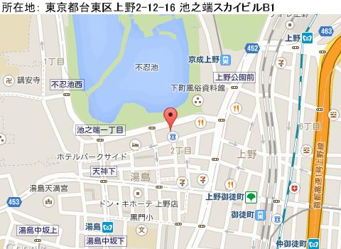 東京キャバクラ求人、上野リアンの画像マップ1