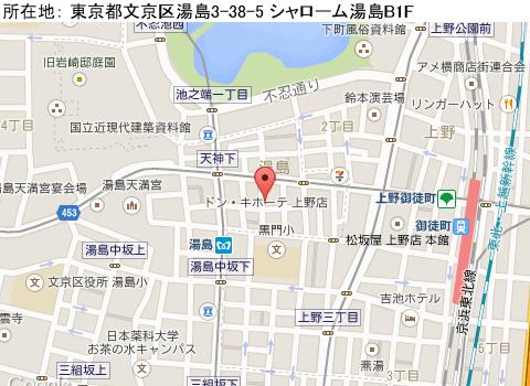 上野キャバクラ派遣マンダリンマップ