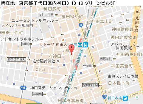神田キャバクラ派遣姉キャバ神田西口店マップ