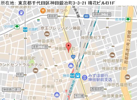 神田キャバクラ派遣ヴァイスマップ