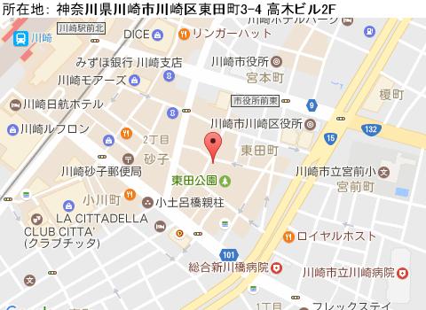 川崎キャバクラ派遣コンフォートマップ