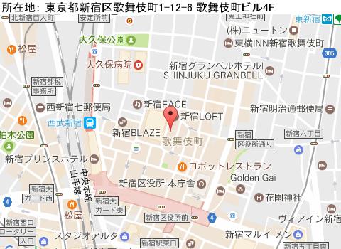 新宿キャバクラ派遣ミネルヴァマップ