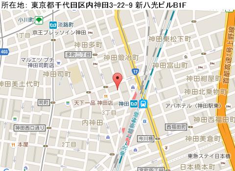 神田キャバクラ派遣ニューグランディアマップ