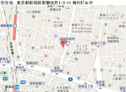 新宿キャバクラ派遣レジーナテオドーラマップ