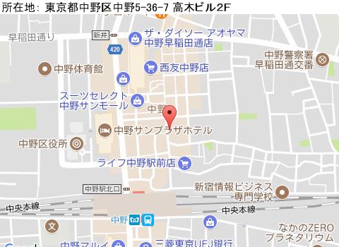 中野キャバクラ派遣ビークールマップ