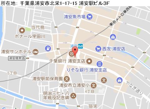 浦安キャバクラ派遣トップスマップ