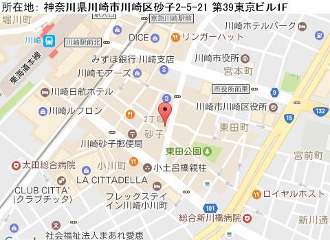 川崎キャバクラ派遣フォクシーマップ