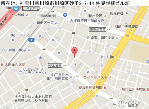 川崎キャバクラ派遣ルピナスマップ