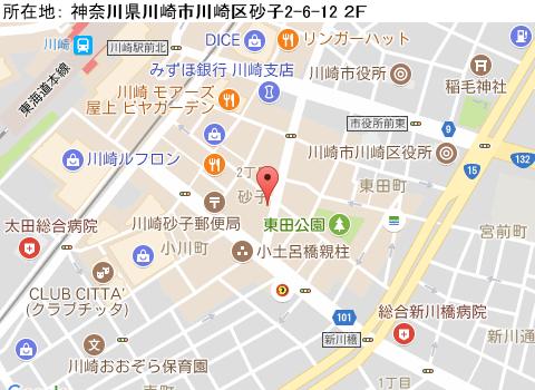 川崎キャバクラ派遣クラブディオマップ