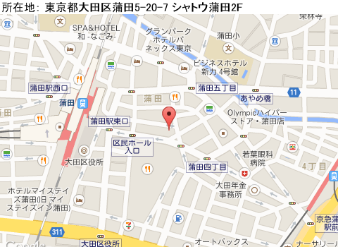 蒲田キャバクラ派遣クラブゴールドマップ