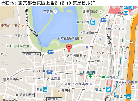 上野キャバクラ派遣クラブ オジョウマップ
