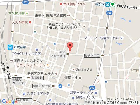 新宿キャバクラ派遣リナリアマップ