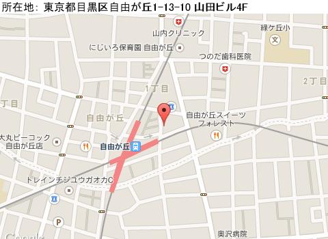 自由ヶ丘キャバクラ派遣マーズ(ガールズバー)マップ